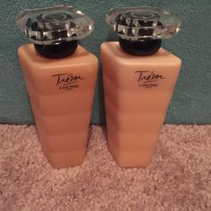 Brand new Trésor Shower Gel/Lotion Duo (on hold) These are 3.4 oz each. One is the Gel Douche Parfumé and the other is Lait pour ke Corps.  Both are brand new and never opened.  I received them as a gift.  I love the perfume.  It is Trésor Lancôme Paris. Lancōme Other