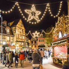 Colmar - Alsace, France ... the magic of Christmas is present at any time of the day but especially at night.
