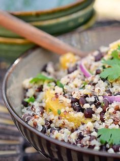Quinoa and Black Bean Salad with Orange-Coriander Dressing | 19 Quinoa Salads That Will Make You Feel Good About Your Life