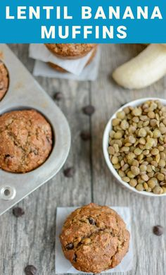 These Lentil Banana Muffins are the perfect on-the-go breakfast. They're kid-friendly and packed with fiber and protein. Plus you can't even taste the lentils!
