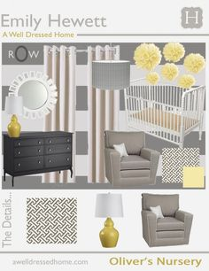 Fresh Modern Nursery. Love this color scheme for an adult bedroom...but now it might be the next nursery in our house!