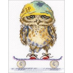 """Skater Counted Cross Stitch Kit-4""""X6"""" 14 Count"""