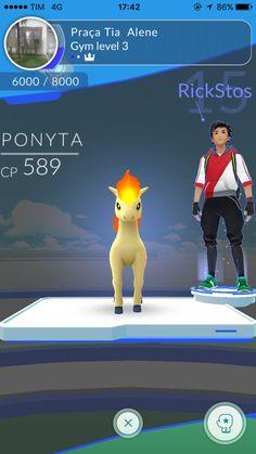 Outro ginásio! To bem hoje. Rs #PokemonGO