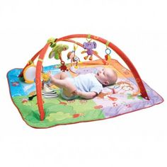 Sensory-loaded tummy time mat helps baby develop fine motor skills, and it's great for travel! http://bit.ly/J9Ksne