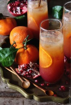 Orange + pomegranate
