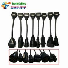 20pcs/lot DHL Free Truck Cables TCS CDP Pro OBD2 OBDII Trucks Diagnostic tool connect cable 8 PCS Trucks Cable CDP Plus #Affiliate