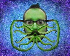 Laughing Squid Logo Made Using Cthulhu Tentacles by Archie McPhee