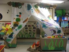"One of our KinderCare Centers recently created a ""Bug Camp"" for the children."