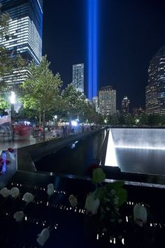 Watch the annual Tribute in Light from the National September 11 Memorial & Museum.
