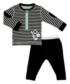Look at this #zulilyfind! Black Rock-a-Bye Henley & Pants - Infant by Kushies #zulilyfinds