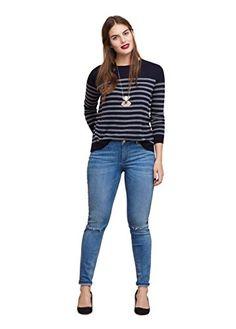 #VIOLETA (Plus Size) – Gestreifter Cardigans und Pullover Pullover…