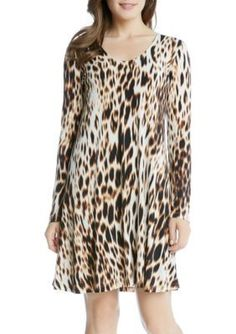 Karen Kane  Blurred Cheetah Taylor Dress