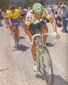 #Parra atacando a #Delgado #Ciclismo #Cycling #CristobalCabezas