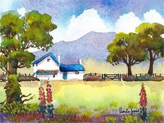 An original Watercolour ::Country Cottage Walesis soldunframed, with a cream mount, ready to fit size 9ins x 7ins Frame.... It is painted on Bockingford Watercolour Paper with Artist quality paints. It will make a great gift for any occasion...or why not treat yourself to some new artwork!
