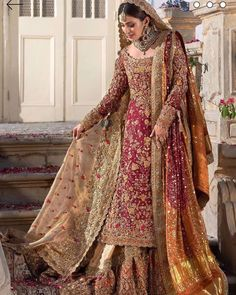 Farah Talib Aziz Bridal Wear Pakistani Wedding Dresses 2020 [Latest] - Latest Fashion Styles & Trends Source by efashionlady dresses 2020 Latest Bridal Dresses, Asian Bridal Dresses, Pakistani Wedding Outfits, Pakistani Wedding Dresses, Wedding Dresses For Girls, Pakistani Dress Design, Bridal Outfits, Indian Dresses, Indian Outfits