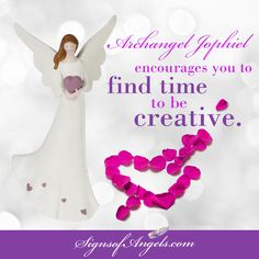 It is the peaceful, creative moments that we can tap into the magic of the Angels. Schedule time to be more creative!   Archangel Jophiel => http://ow.ly/XR2ve  Angel with Hearts Statue => http://ow.ly/XR2IT