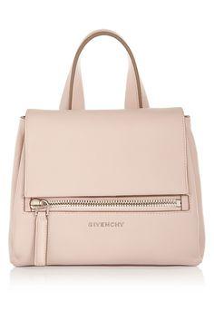 Givenchy|Sac Pandora Pure petit modèle en cuir texturé rose poudré|NET-A-PORTER.COM