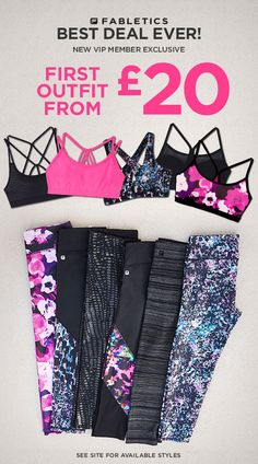 Limited Time Only: Your First Activewear Outfit From £20! ☀ Get Fit For Summer With Fabletics ☀ Take Our Quick Lifestyle Quiz for this Exclusive Offer!