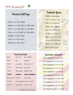 free sewing cheat sheet