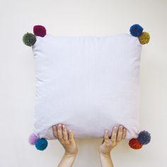 pom pom pillow - two is company