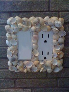 Sea Shells light Switch frame