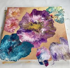 Acrylic Pouring, Abstract Art, Make It Yourself, Artwork, Flowers, Painting, Work Of Art, Auguste Rodin Artwork, Painting Art