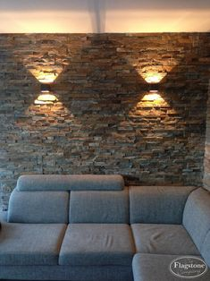 Stone Wall Living Room, Living Room Colors, Home Building Design, House Design, Spa Room Decor, Stone Accent Walls, Light Brick, Plant Wall Decor, Room Partition Designs