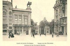 Ingang zoo Antwerpen 1920