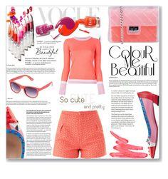 """Colour me beautiful"" by mood-chic ❤ liked on Polyvore featuring moda, Sophie Hulme, Design Inverso, Roksanda Ilincic, Roksanda, Fendi, Ilia, Retrò, coral y miumiu"