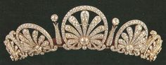 The Hapsburg Fringe Tiara seems to be the only major tiara left in the Princely vaults from the days of the Austro-Hungarian Empire. Likely made in the 1870s, it can be converted into a necklace. It is believed to have been a present of Prince Ferdinand Bonaventura Kinsky of Wchinitz und Tettau (1834-1904) to his wife Princess Marie of Liechtenstein (1835-1905).