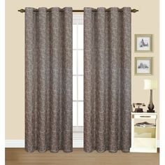 Canora Grey Faulkner Synthetic Single Curtain Panel Color: Chocolate Patio Curtains, Grommet Curtains, Living Room Drapes, Rod Pocket Curtains, Thermal Curtains, Colorful Curtains, Curtain Rods, Perfect Match, Brown And Grey