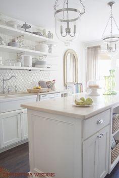 white kitchen - backsplash and faucet