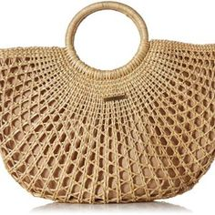O'Neill Women's Sayulita Woven Straw Tote, Natural, One Size - Natural One Size Summer Handbags, Straw Handbags, Popular Handbags, Handbags Online, Fendi, Vera Bradley Tote, Straw Tote, Nylon Bag, Vintage Handbags