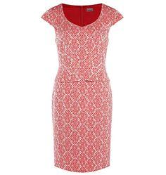 JIGSAW | Dresses - Red daisy peplum dress