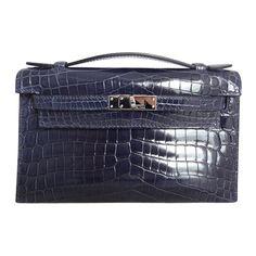 Hermes Kelly Mini Crocodile Niloticus Abysse pdhw Vintage Bags, Vintage Handbags, Hermes Kelly, Crocodile, Kelly Bag, Fashion Handbags, Mini, Purses And Bags, Shoe Bag
