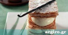 Μιλφέιγ με αφράτη κρέμα βανίλια και σφολιάτα από την Αργυρώ Μπαρμπαρίγου | Εύκολη συνταγή με όλα τα μυστικά. Δοκιμάστε το και θα ξεχάσετε τα ζαχαροπλαστεία!