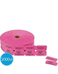 Double Roll Coupon Raffle Tickets - Party City