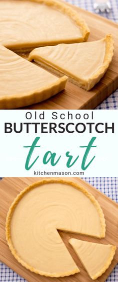 This beautiful Butterscotch Tart recipe is EXACTLY how you remember it from your school days! Take a bite of nostalgia with this easy to follow step by step picture recipe.... #butterscotchtart #carameltart #schooldinnerrecipes #gypsytart #schooldinner #schooldinners