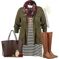 """#plus #size #outfit #alexawebb  """"Plus Size - Stripe Dress"""" by alexawebb on Polyvore  @alexandrawebb"""