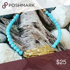 Seashell Necklace Perfect with Lilly Pulitzer prints & colors!  Handpicked North Carolina seashell enhanced with gold coloring for just the right amount of beach glam!  Handcrafted, one-of-a-kind piece rest below hollow of neck. Lilly Pulitzer Jewelry Necklaces