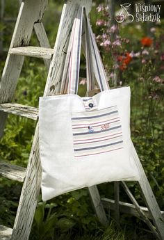 linen and cotton handade bag
