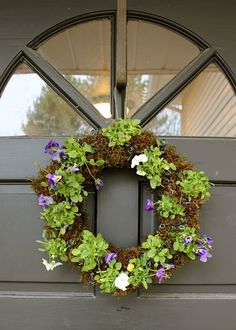 Live spring wreath.
