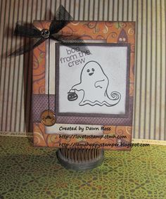 CTMH Halloween card with Moonlight paper and Creepy Creatures stamp set: http://iamahappystamper.blogspot.com