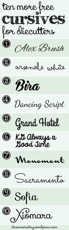 10 Free Cursive Fonts