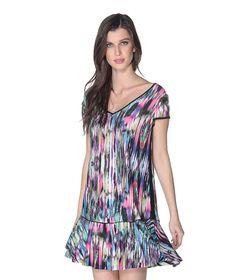 T SHIRT DRESS MALHA VISCOSE