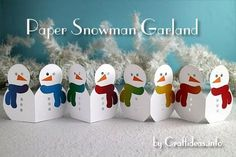 Winter Craft - Paper Snowman Garland