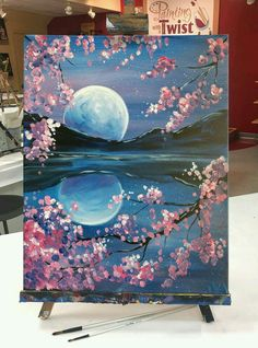 86 Stunning Art Canvas Painting Ideas for Your Home - artmyideas - Aesthetic painting ideas - Cute Canvas Paintings, Easy Paintings, Acrylic Painting Canvas, Canvas Art, Canvas Ideas, Nature Paintings, 3 Canvas Painting Ideas, Awesome Paintings, Painting Pictures