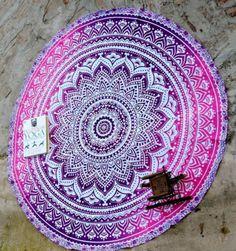 Round-Mandala-Indian-Hippie-Boho-Tapestry-Beach-Picnic-Towel-Mat-Blanket-Hot