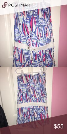 Lilly Pulitzer Towel Romper Lilly Pulitzer towel romper, in great condition Lilly Pulitzer Other Valance Curtains, Lilly Pulitzer, Towel, Rompers, Closet, Things To Sell, Home Decor, Style, Swag