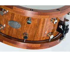 Stave Snare Drum.  Trick throwoff/lugs, segment hoops.